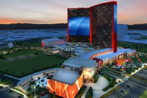 Resorts World Las Vegas presenta una pantalla LED gigante en West Hotel Tower